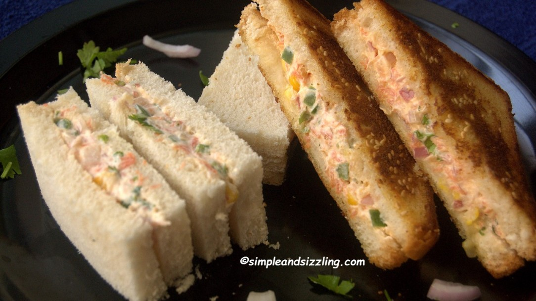 Blog simple sizzling recipes a very simple and nutritious sandwich that can be made for breakfast and even packed for kids tiffin box i have used regular bread for this recipe forumfinder Image collections
