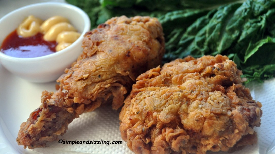 CRISPY FRIED CHICKEN With Video Homemade KFC Style Fried Chicken Recipe Simple Sizzling Recipes
